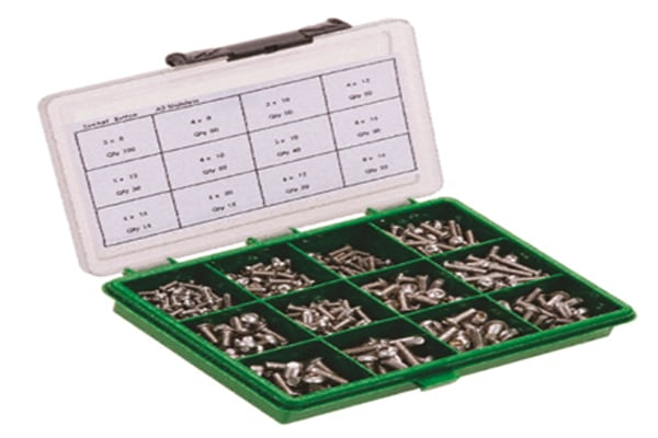 Product image for A4 cap head socket screw kit M6-M12