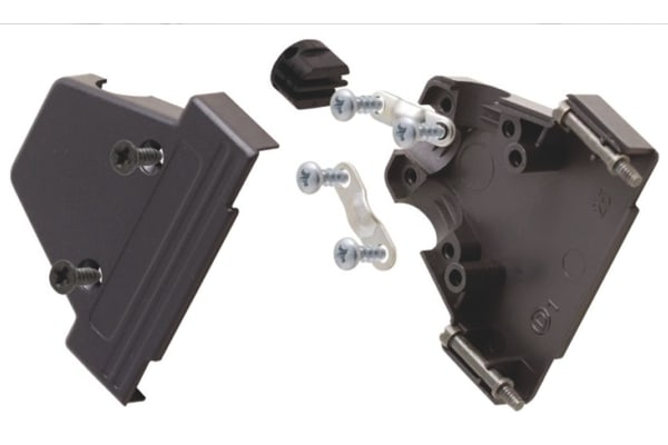 Product image for 15 WAY BLACK PLASTIC DSUB HOOD TRIPLE