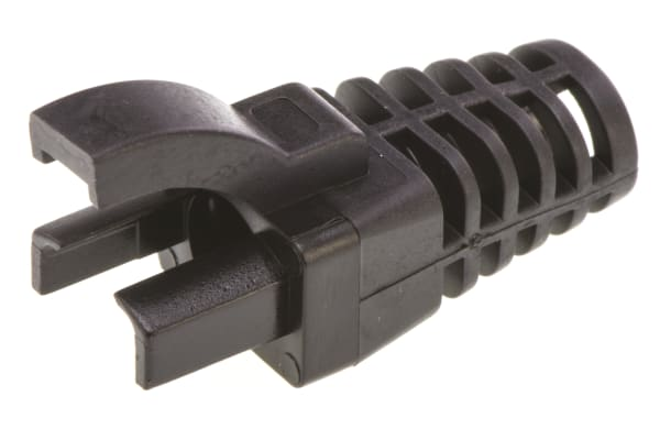 Product image for RJ45 STRAIN RELIEF BOOT - BLACK