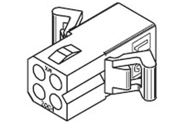 """Product image for .062"""" Receptacle Housing 4w"""