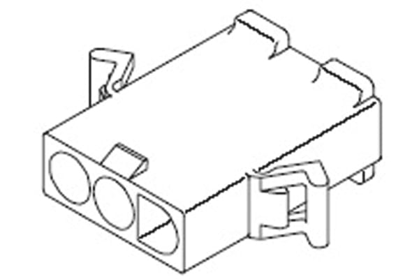 Product image for .093 Pin and Socket Plug Housing 3 way