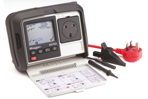 Product image for Megger PAT120-UK PAT Tester, Class I, Class II Test Type
