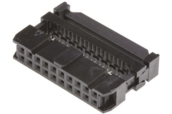 Product image for Amphenol 20-Way IDC Connector Socket for Cable Mount, 2-Row