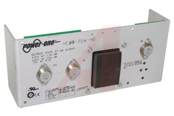 Product image for Embedded Linear Power Supply Open Frame, 100 → 264V ac Input, -5 V, 5 V, 12 V Output, 1.7 A, 6 A, 700 mA, 53W
