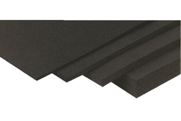 Product image for Black EPDM Rubber Sheet, 1200x600x1.5mm