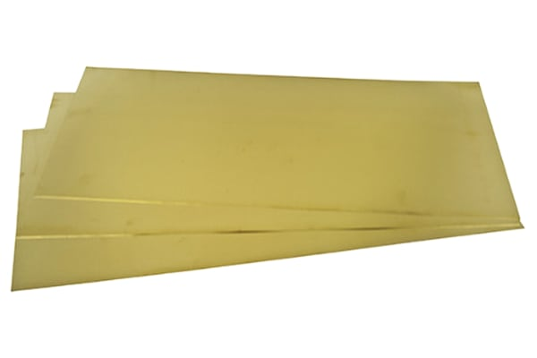 Product image for Brass sheet 600 x 300 x 0.7mm