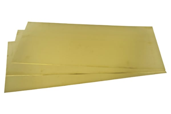 Product image for Brass sheet 600 x 300 x 0.45mm