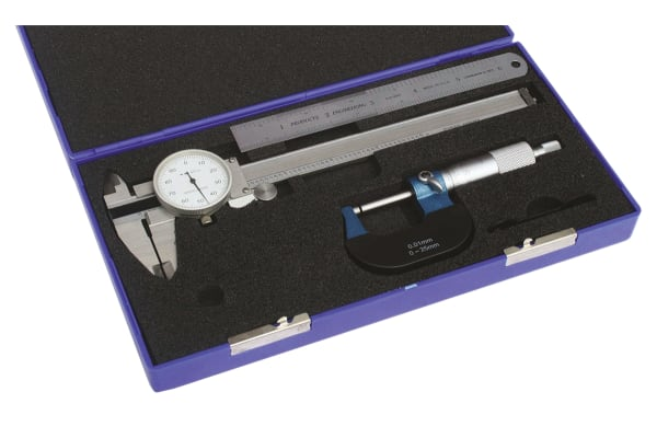 Product image for Dial Caliper, Micrometer & Rule Set