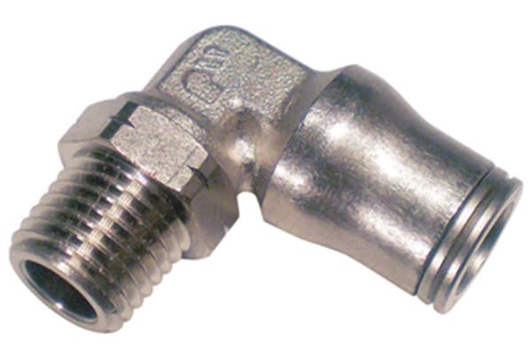 Product image for 4mm, R1/8 BSPP, Male Stud Elbow