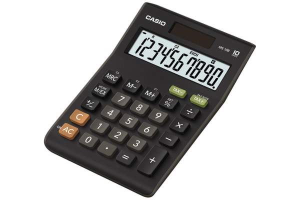 Product image for CASIO MS-10B 10 DIGIT DESK CALCULATOR