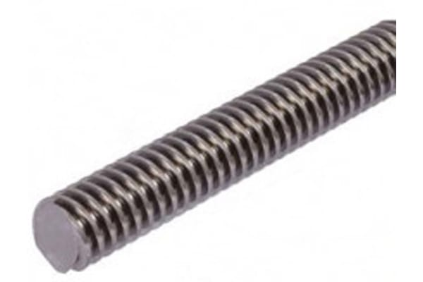Product image for Stainless Lead Screw 12 X 3 Thread X 1m