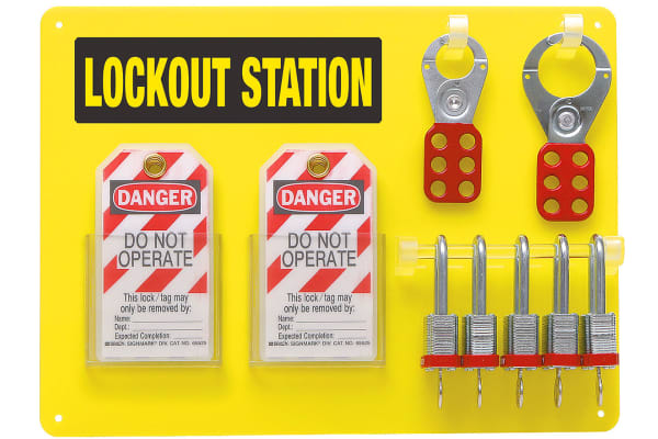 Product image for 5 Padlock Lockout Station