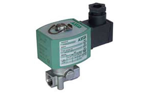 Product image for EMERSON – ASCO Solenoid Valve E262K184S1N01-24VCC, 2 port , NC, 24 V dc, 1/4in