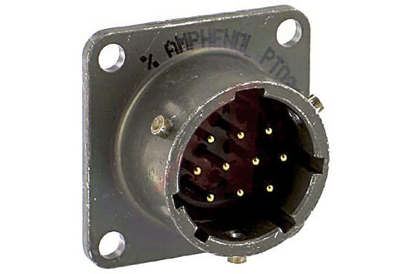 Product image for 10 way panel receptacle, pin contacts