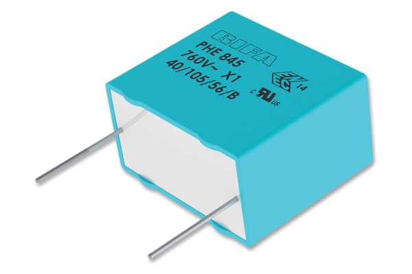 Product image for Capacitor PHE845 PP 100nF Vdc 760Vac