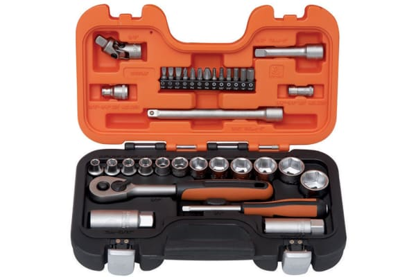"Product image for 1/4"" & 3/8"" SOCKET SET, INCHES"