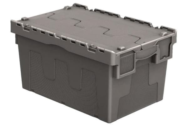Product image for 54LTR Attached Lid Euro Container