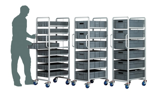 Product image for 6 Tier Euro Container Trolley