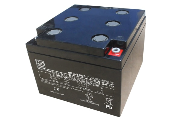 Product image for RS 12v 26Ah Gel Lead Acid Battery
