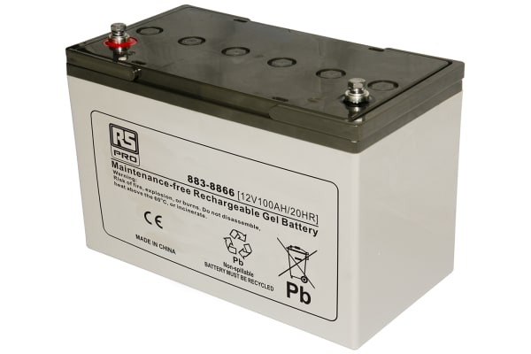 Product image for RS 12v 96Ah Gel Lead Acid Battery