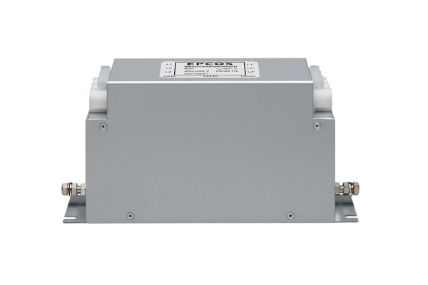 Product image for EPCOS, B84243-A 17A 530 V ac 50 Hz, 60 Hz, Chassis Mount RFI Filter, Terminal Block 3 Phase