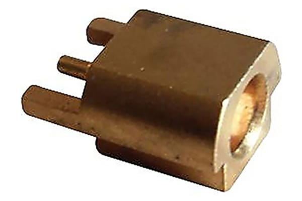 Product image for MMCX edge mount R/A PCB jack receptacle