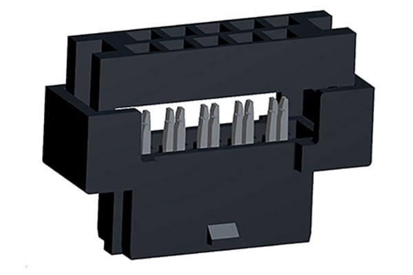 Product image for Milli-Grid 2mm PCB IDC receptacle,10 way