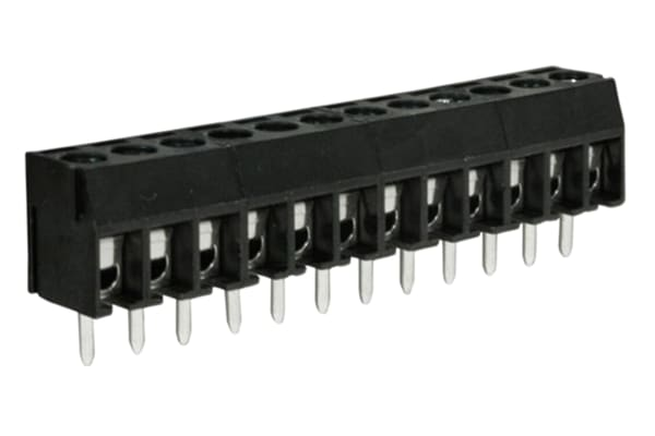 Product image for 3.5mm U/low prof PCB terminal block,12P