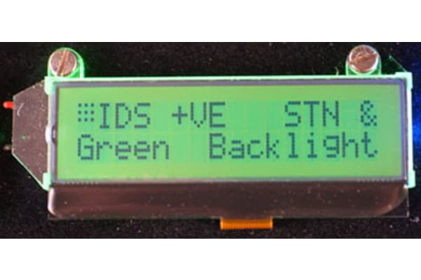 Product image for 2X16 CHARACTER LCD STN POS TFL GR B/L