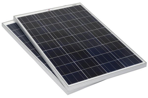 Product image for RS PRO 100W Monocrystalline solar panel