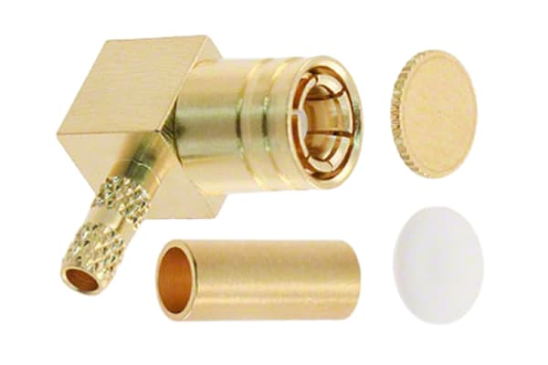 Product image for 75 Ohm R/A PCB RF coaxial SMB mini plug