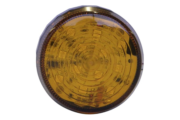 Product image for LED Beacon, Amber, Low Prof, 110-230Vac