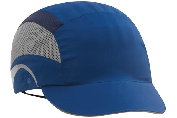 Product image for JSP Navy Short Peaked Bump Cap, HDPE Protective Material