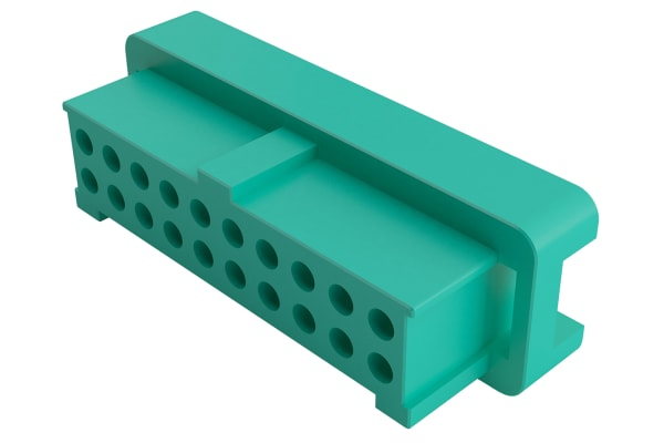 Product image for HARWIN, Gecko Female Connector Housing, 1.25mm Pitch, 10 Way, 2 Row
