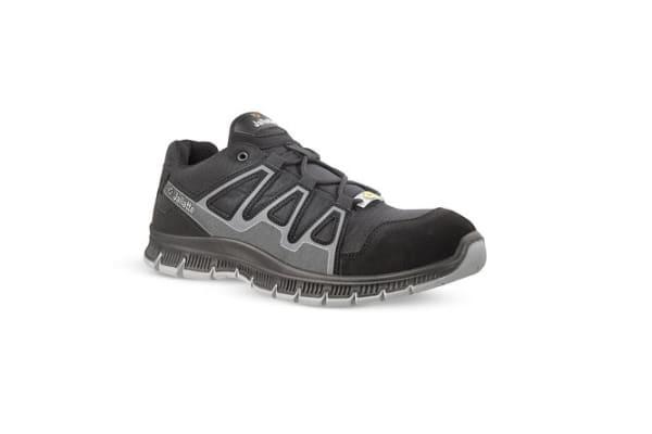 Product image for Jallatte JALCATCH Black, Grey Unisex Toe Cap Safety Trainers, UK 10.5, US 11, EU 45