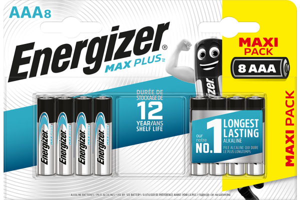Product image for ENERGIZER ALKALINE MAX PLUS AAA 8PK