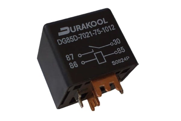 Product image for Durakool, 12V dc Coil Non-Latching Relay SPNO PCB Mount Single Pole