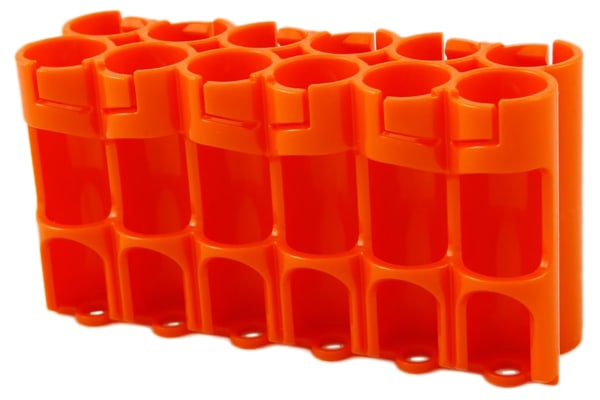 Product image for STORACELL 12 AA BATTERY CASE ORANGE