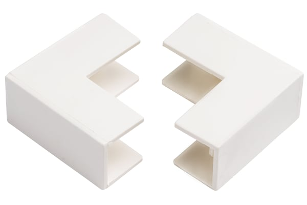 Product image for Wht PVC external angle-38x16mm trunking