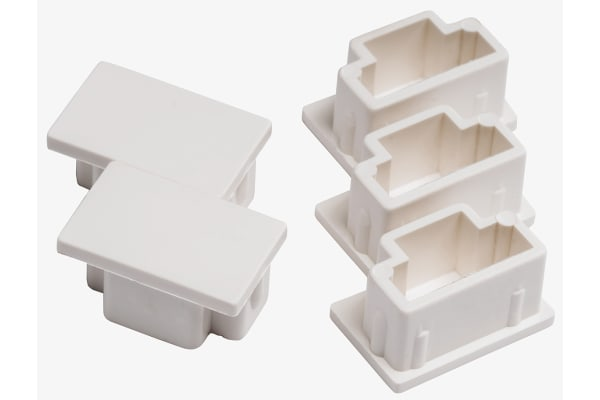 Product image for White PVC blank end for 25x16mm trunking