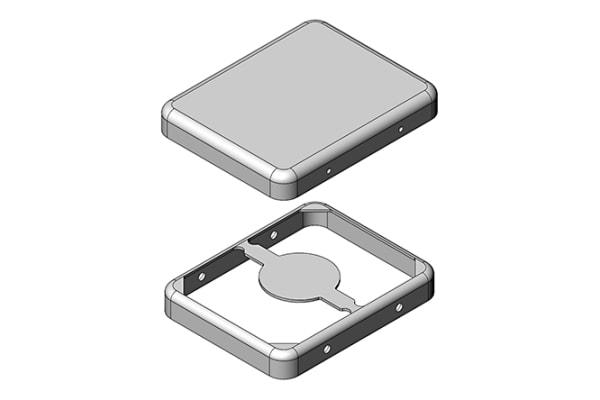 Product image for RFI SHIELD PCB 22 X 19.3 X 3.3MM