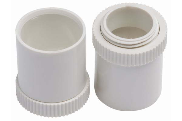Product image for White PVC male adaptor for conduit,20mm