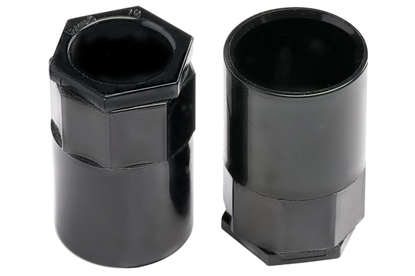 Product image for Blk PVC female adaptor for conduit,20mm
