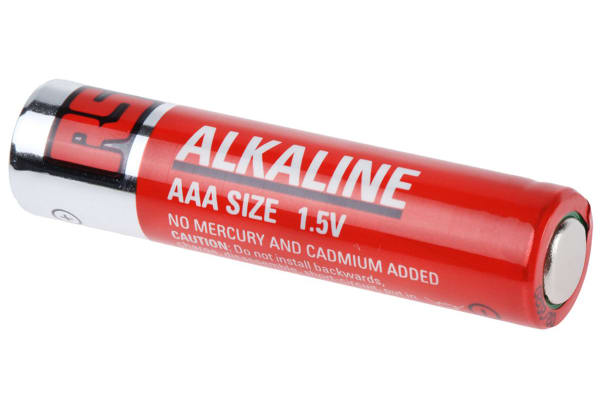 Product image for RS PRO Alkaline AAA Battery 1.5V