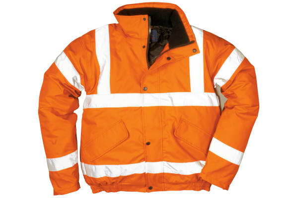 Product image for Hi-Vis Orange Bomber Jacket, XXXL