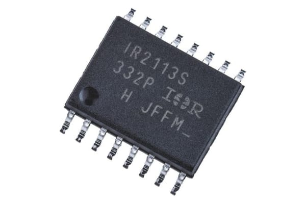 Product image for Infineon IR2113SPBF Dual High and Low Side MOSFET Power Driver, 2.5A 16-Pin, SOIC W