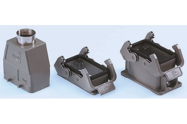 Product image for Han B 1930 Series size 10 B Side Entry Connector Hood