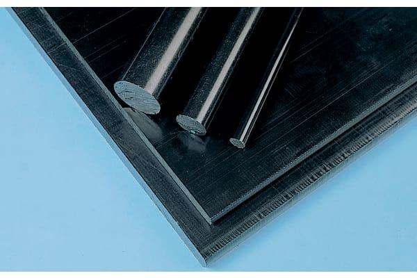 Product image for Black acetal rod stock,1m L 25mm dia