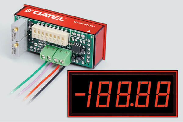 Product image for Low power red LED ammeter,4-20mA 13.2mm