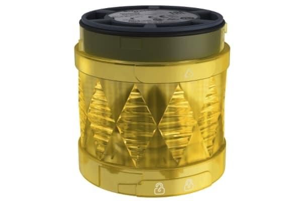Product image for Yellow LED Beacon, Steady, 60mm, 24 V